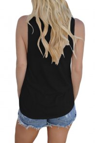Black Laser Cut Detail Tank Top