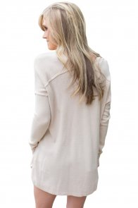 Apricot Soft V Neck Sweater