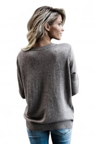 Gray West Coast Wrap Front Sweater
