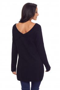 Black Soft V Neck Sweater
