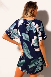 Tie The Knot Palm Tree Beach Cover-up