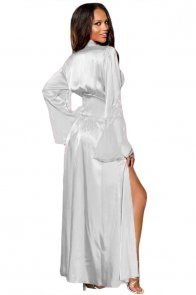 White Glamour Valentine Long Robe