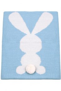 Sapphire Bunny Animal Print Muslin Swaddle Blanket