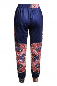 Colorful Bohemian Ethnic Print Straight Legs Jogger Pants