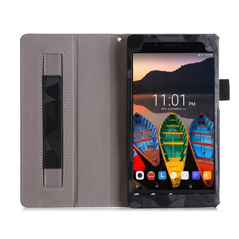 the best attitude 4a416 222ae Book Flip PU Case Cover Maple Leaf for Lenovo Tab 4 7 Essential TB-7304  TB-7304F TB-7304I TB-7304X 2017 Hand Strap with Card Slots
