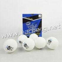 YINHE Table Tennis Ball New Materials Plastic Seamless 3-Star 40+ white