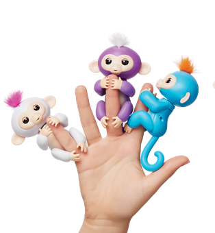 FINGERLINGS PACK #1 [SOPHIE, MIA, BORIS]   3 MONKEYS