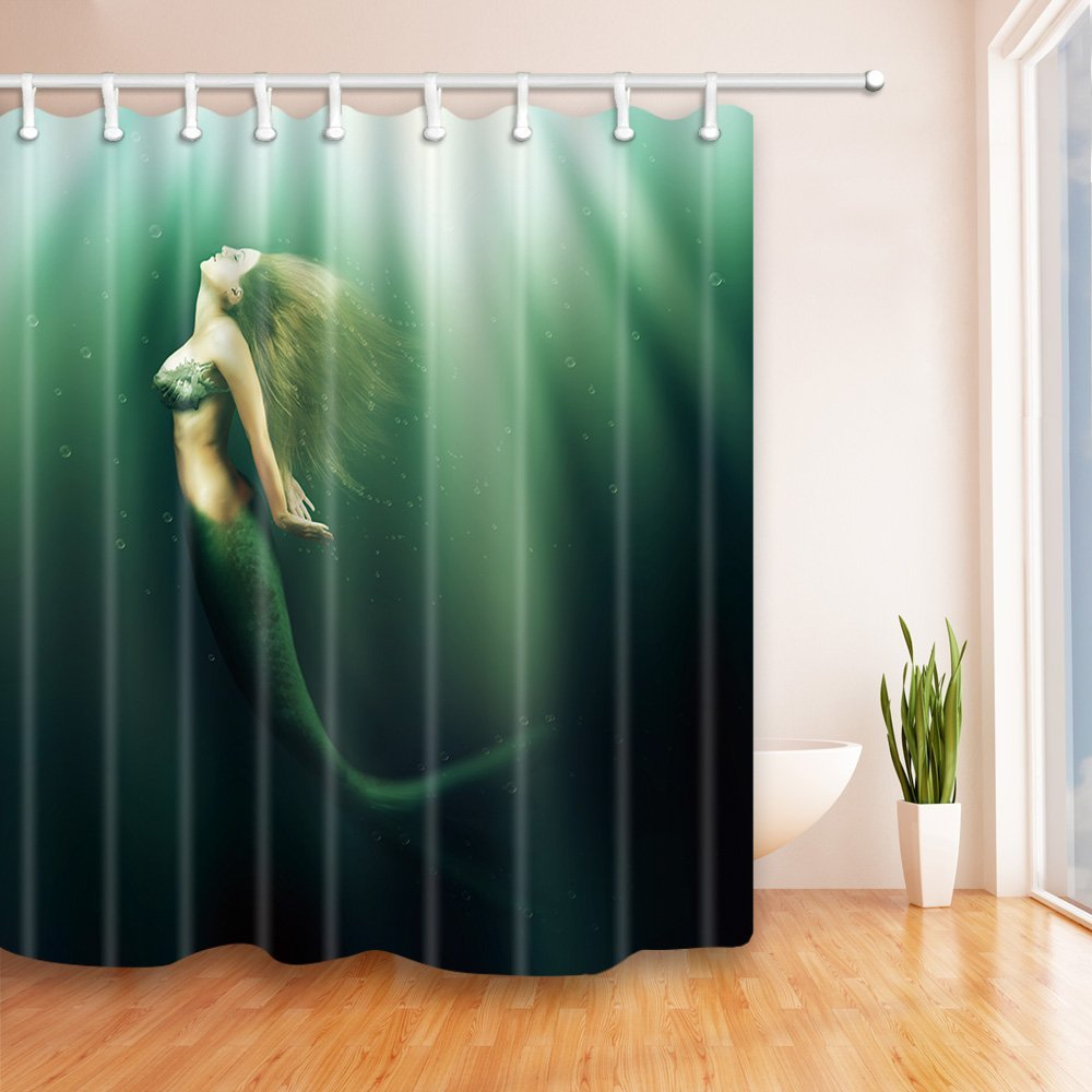 US$ 32.99 - Kotom The Mermaid Beauty Up In Water Bath Curtains ...