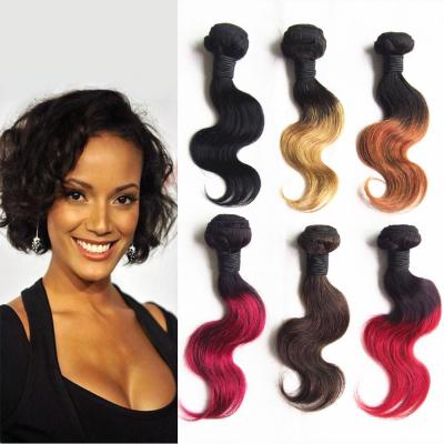 Us 65 1pc free shipping ombre brazilian hair weave short body 1pc free shipping ombre brazilian hair weave short body wave bundle 10inch 50gbundle two tone color item no 428545 pmusecretfo Choice Image