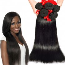 5pc Indian Virgin Silky Straight Hair