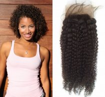 Unique Beauty Brazilian Virgin Kinky Curl Lace Closure Hair