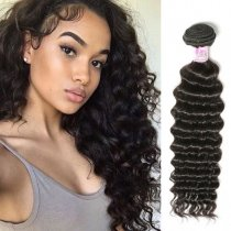 Mongolian Deep Wave Virgin Hair Weave 100g