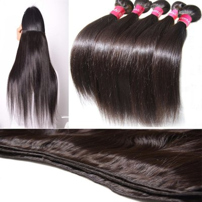 8A 5pcs Brazilian Silky Straight Virgin Hair 500g