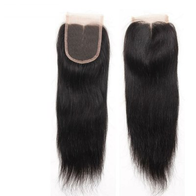 Peruvian Virgin Silky Straight Lace Closure Hair