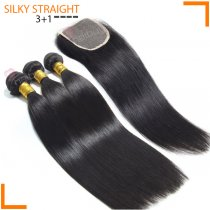 PERUVIAN HAIR STRAIGHT 3+1