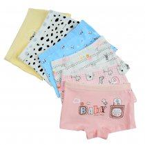 Closecret Kids Series Baby Underwear Little Girls' Cotton Boyshorts Panties (Pack of 6)