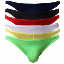 Bossail Mens Ultra Thin Soft Low Rise Briefs Breathable Ice Silk Triangle Bikini Underwear (2-6 Pack)
