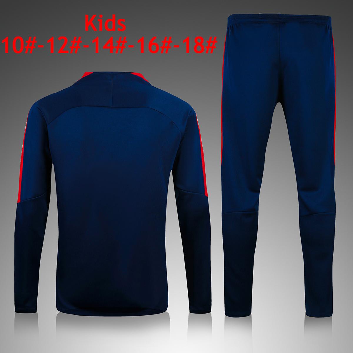 95591c2cf PSG Kids Chidlren Football Jerseys BLUE Training Kits Soccer ...