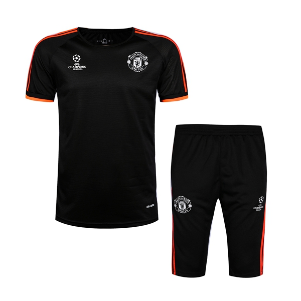 839937be952 Manchester United UEFA CHAMPIONS LEAGUE adidas black 2016 maillot de football  tracksuit 2017 Survetement football training suit chandal soccer short  sleeve ...