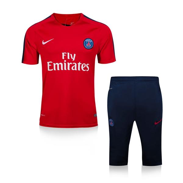 ce2dbc3cba16e NIKE PSG PARIS Red Maillot De Football 2016 soccer tracksuit 2017 Survetement  football training suit chandal soccer short sleeve jerseys middle pants  Sport ...