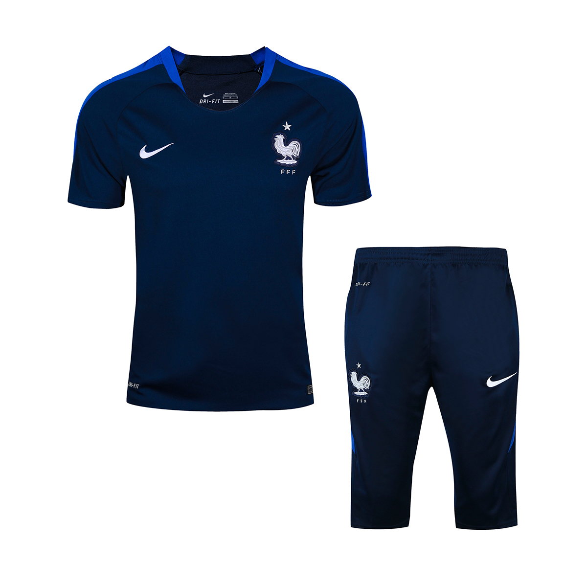 NIKE FRANCE NAVY BLUE 2016 2017 Soccer Tracksuit chandal football Training  Suits Survetement Football tracksuits short sleeve jerseys fifth middle  pants ... 8cc76c75a7721