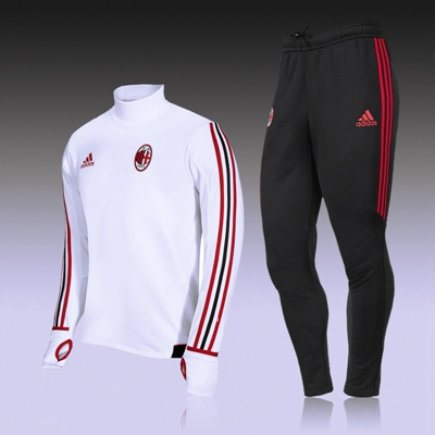 c300889adff Ac Milan ADIDAS survetement football training soccer tracksuit chandal  football suit Jogging skinny pants soccer jerseys Item NO  587749