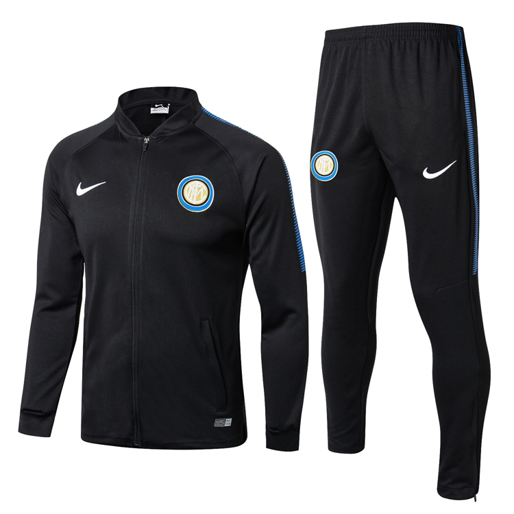 2018 19 Inter Milano NIKE Football Tracksuit Soccer Training Suit low  colloar BLACK Sport Jacket Jersey Jogging Pants Chandal de Foot Item NO   678499 1a8bb58430ed6