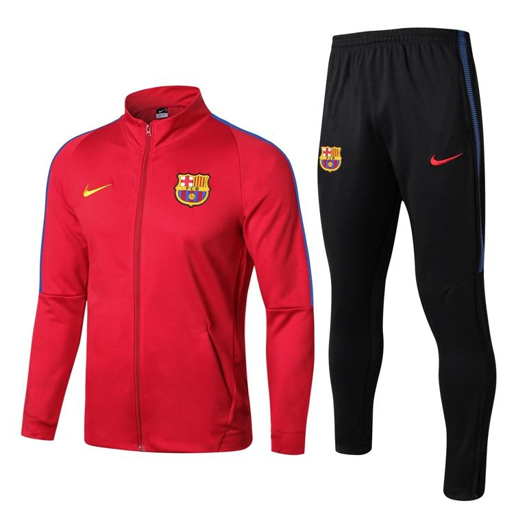 2018 19 Barcelona NIKE Football Tracksuit Soccer Training Suit Barca high  colloar RED Jacket Jersey Jogging Pants Maillot de Football Item NO  678493 68647ee6b9987