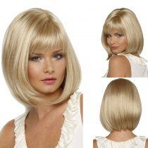 New Arrival Gold Fluffy Hair Straight wigs
