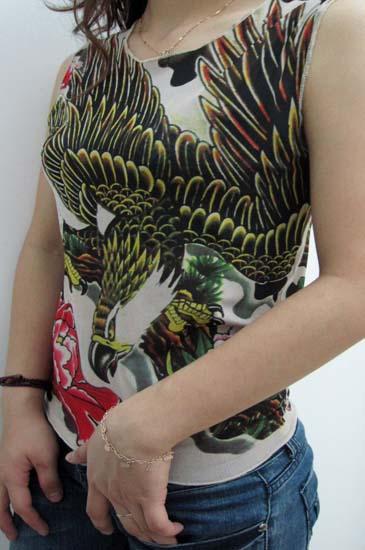 Goshawk Tattoo Sleeveless T-shirt L9840