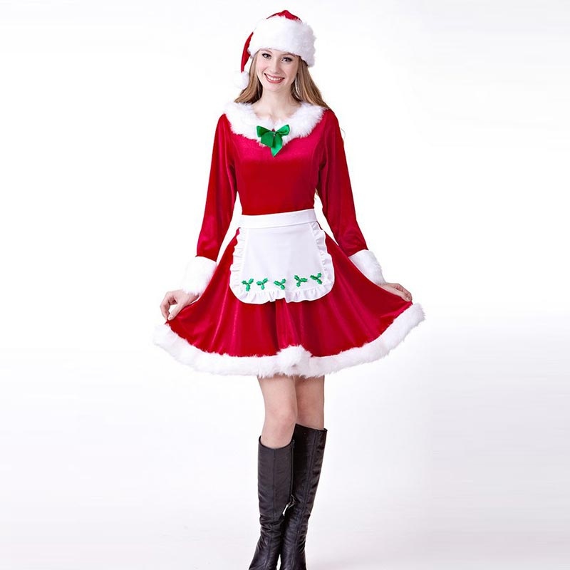 96763d14b Womens Mrs.Santa Claus Adult Costume