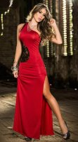 One Shoulder Lace Gown L51302-2