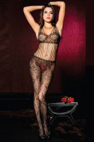 Floral Lace Shredded Bodystocking L92255