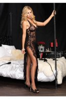 BLACK SPANISH ROSE LACE INTIMATE  DRESS L5105
