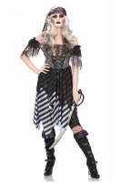 Ghost Pirate Women Costume Tattered Dress