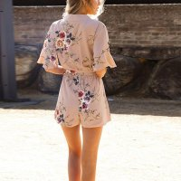 Summer Holiday Floral Print Romper 55340-1