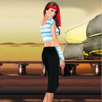 Short Sleeve Pirate Costume 1007