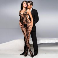 Rose Shredded Bodystocking