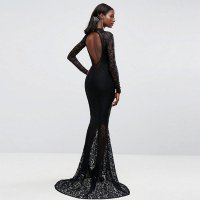 Allover Lace Fishtail Evening Dress L5041
