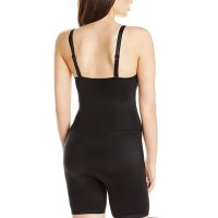 Black Lace Molded Cups Mid Thigh Body Shaper