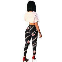 Fashion Printed Sports And Leisure Pants With Pocket