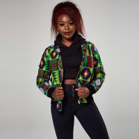 Retro Geometric Dashiki Print African Jacket
