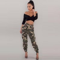 Camouflage Multi-pocket Slim Pants