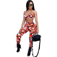 Ultra Camo Pants Set (Orange)