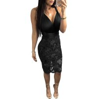 Multi Bandages Lace Club Dresses