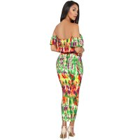 Strapless Wrapped Print Sexy 2 Pieces Clubwear Sets