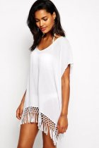Seafolly Sky Midi Kaftan with tassels L38214