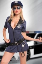 Sexy New Police Cop Uniform Fancy Dress Costume  L1112