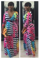 V-Neck Printed Maxi Dress L51285