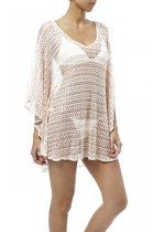 Fashion Nude Short Knit Beach Kaftan L38410